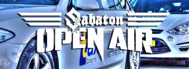 Sverigetaxi Dalarna Samarbetar Med Sabaton Open Air